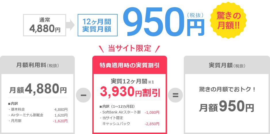 ソフトバンクエアー 料金